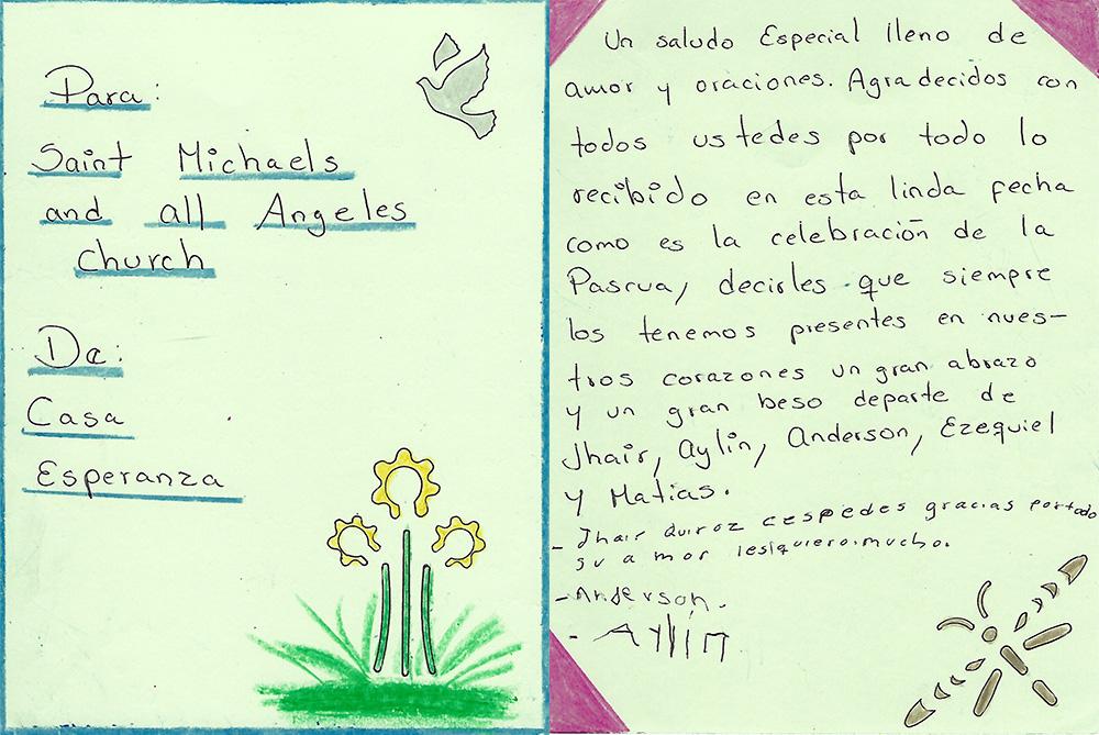 Casa Esperanza Easter Card