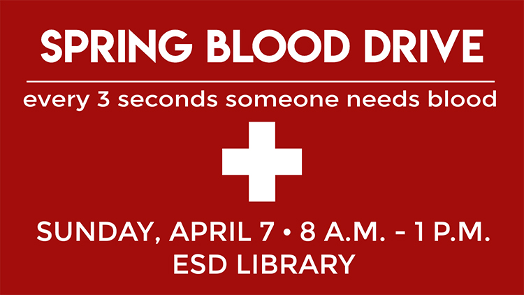 Spring Blood Drive - Sunday, April 7
