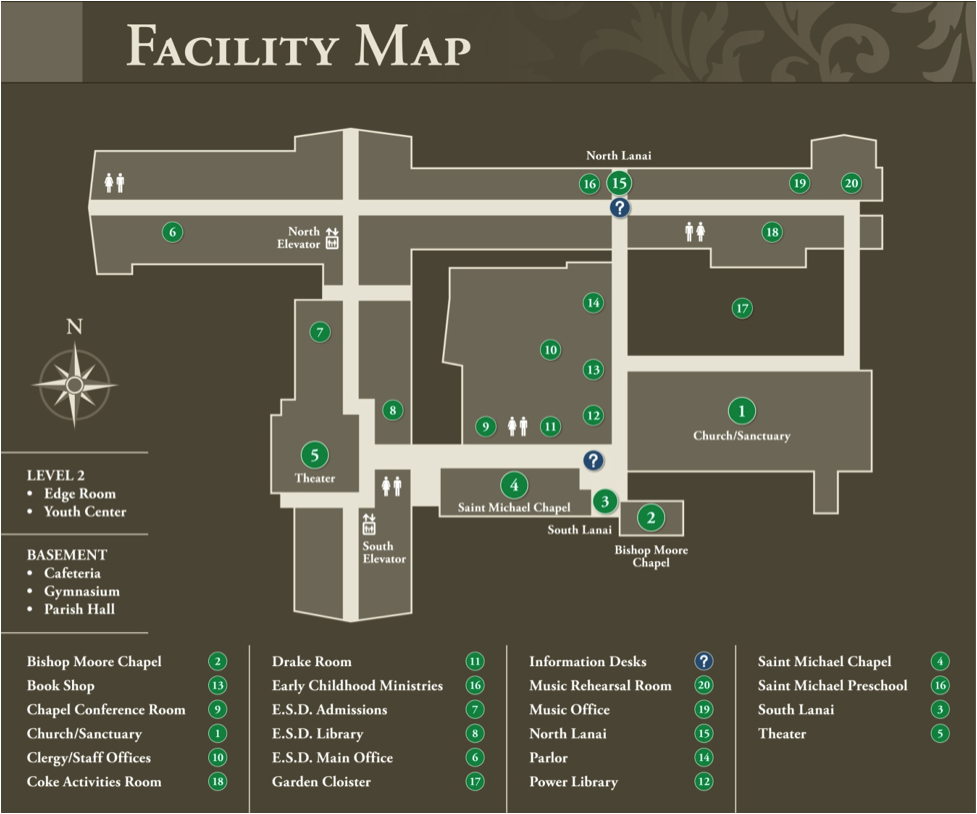 Holy Family Campus Map.Getting Here Campus Map Saint Michael And All Angels