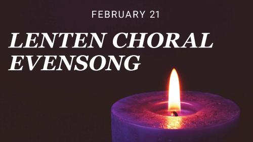 Lenten Choral Evensong