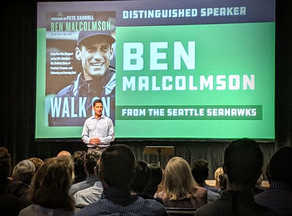 Distinguished Lecturer Ben Malcolmson Wows Saint Michael Audience With Testimony