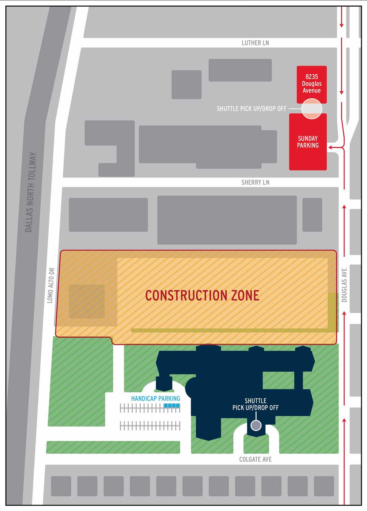 SMAA Offsite Parking for Sunday Morning beginning 8/15