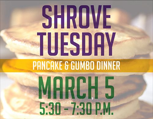 Shrove Tuesday Pancake & Gumbo Supper